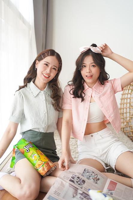 ruiyoo-Dream-Planet-Checker-Blouse-Main